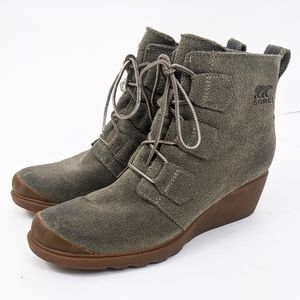Sorel Toronto Waterproof Leather Wedge Boots 9.5